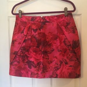 J. Crew Pink Floral Skirt